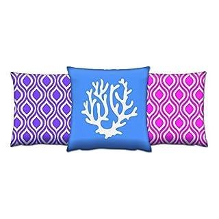 Asir Group LLC 417GRV0162Gravel Cushion Set-3Pieces Colourful