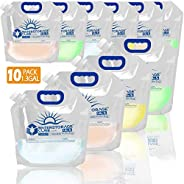 WaterStorageCube Premium Collapsible Water Container Bag, BPA Free Food Grade Clear Plastic Storage Jug for Ca