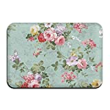 Best Shampooers Rug - PZLETVslzb Green Pink White Floral Nice Personalized Door Review