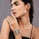 PROSTEEL Bracelet Manchette Femme Bangle Ouvert avec Motif Repercé Arbre de Vie Bijoux de Poignet en Acier Inoxydable 316L (Argenté)
