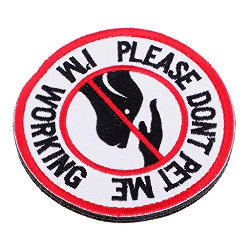 Homyl Service Dog No Touch No Talk, Service Hund Emblem Bestickter Aufnäher mit Klettverschluss - 4#