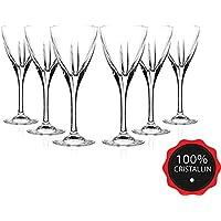 RCR Crystal Fusion - Juego de 6 vasos de cristal para vino