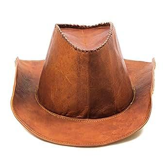 1161d90f ... Goatter Original Leather Stylish fashionable Cowboy Hat For Unisex