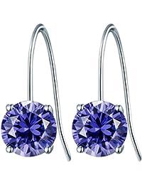 Rafaela Donata - Pendants d'oreilles - Argent sterling 925 oxyde de zirconium, boucles d'oreilles oxyde de zirconium, boucles d'oreilles, bijoux en argent - 60837049
