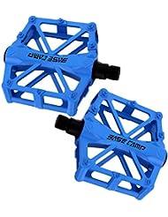 Pasa el RatóN Por Encima de La Imagen Para AmpliarLa Pedales Bicicletas de Bicicleta Bicicleta, NATUCE New Aluminio Mountain Bicicleta Pedales Carretera Pedales Bicicleta HíBrida Para 9/16 Pulgadas - Azul