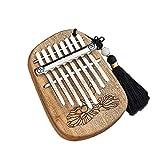 SSeir Mini Kalimba 8 Chiavi Thumb Piano, Portatile Finger Piano con Tune Hammer e Istruzione di Studio, per Bambini Adulto Principianti,3