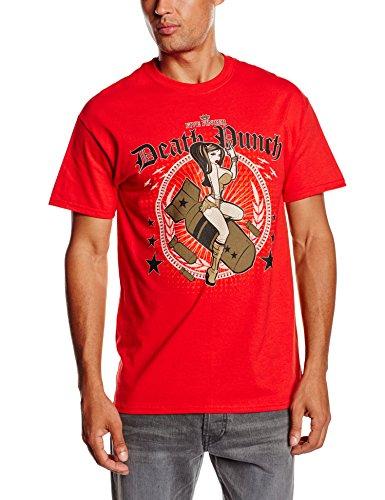 Five Finger Death Punch Herren T-Shirt Bomber Girl Rot (Red)