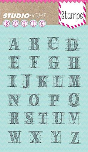 Buchstaben Transparente Stempel - A6 10,5x15cm - Erstellen Sie schöne Karten und Fotoalben (Buchstaben X Stempel)