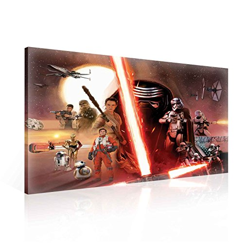 Star Wars Episode 7 Erwachen Macht Leinwand Bilder (PPD1910O1FW) - Wallsticker Warehouse - Size O1 - 100cm x 75cm - 230g/m2 Canvas - 1 Piece