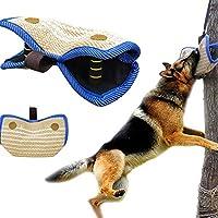 Yute Mordedor con Dos Asas para Perro, Protector de Brazo para Entrenamiento de Perros (para Mano Izquierda y Derecha)