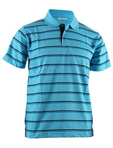 BCPOLO Herren Polo-Shirt, Streifen, Piqué, kurzärmelig - Blau - US X-Small -