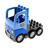 1 x Lego Duplo Fahrzeug LKW medium hell blau Laster mit Kabine Auto Lastwagen Zugmaschine Chassis Paket Globel Set 5609 1326c01 48125c05pb01
