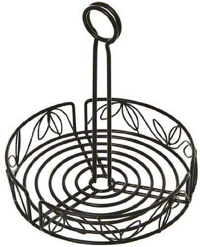 American Metalcraft LDCC18 Wrought Iron Condiment Rack with Leaf Design, 7-3/4-Inch, Black by American Metalcraft American Metalcraft Black Leaf