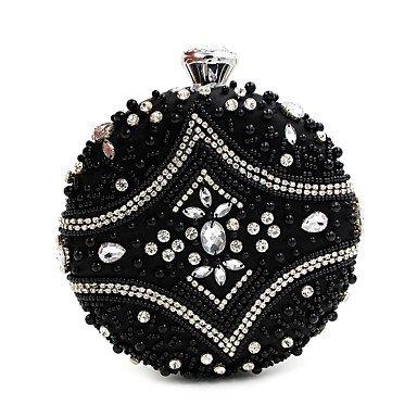 SUNNY KEY-Pochette e Clutch @ Donna Poliestere Formale Casual Serata/evento Matrimonio Ufficio e lavoro Borsa da sera , black black