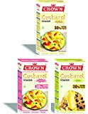 Custard Powder 130g x 3 Flavors Pack (Vanilla, Raspberry, Pista)