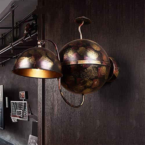 ZYTG Loft Industrie Restaurant Bar Theke Scones Wandleuchten Wohnzimmer Retro Gang Treppe Korridor Balkon Hängelampen Leuchte,Black (Theke Restaurant)