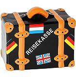 alles-meine.de GmbH Große - Spardose -  Reisekoffer - Reisekasse  - Stabile Sparbüchse aus Porze..