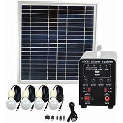 Ferryman - Sistema de iluminación solar de 15 W independiente de la red eléctrica