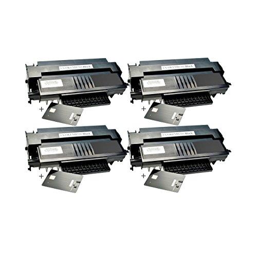 4 Toner für Oki MB260 01240001 Black - Schwarz je 5.500 Seiten, kompatibel zu 01240001