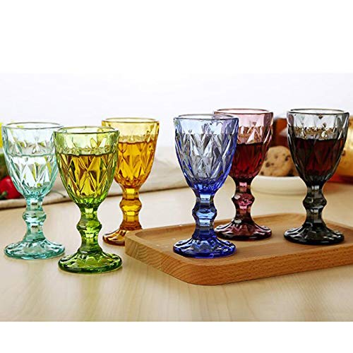 LALLing Schnapsglas Set 50Ml 6Tlg. Getränk Hochzeit Glas 1.7Oz Kleine Trinkweinbecher Farbig European Spirit Verdicktes Glas -