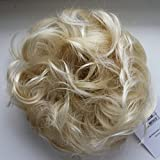 PRETTYSHOP Hairpiece Hair Rubber Scrunchie Scrunchy Updos VOLUMINOUS Curly Messy Bun Bleach blonde # 88T613 G13E