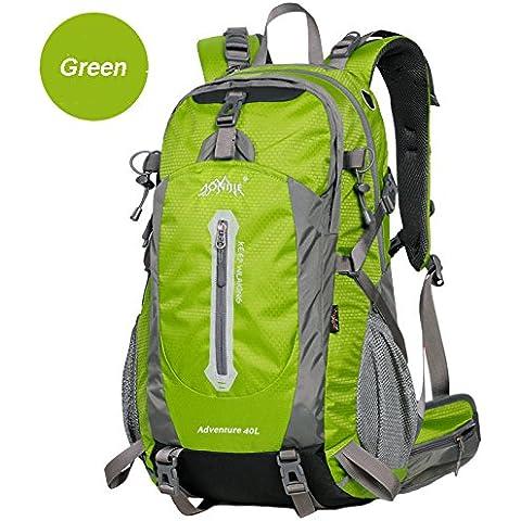 MaMaison007 40L al aire libre Camping senderismo mochila viaje montañismo Trekking bolso - verde