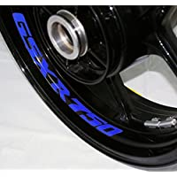 EUFBA Suzuki GSXR750 v2 Motorradfelge Aufkleber Aufkleber Streifen Refletive Blue