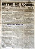 Telecharger Livres REVUE DE L OUEST No 87 du 21 07 1855 JOURNAL POLITIQUE ET D ANNONCES (PDF,EPUB,MOBI) gratuits en Francaise