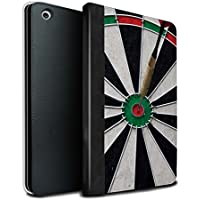 STUFF4 PU Leather Book/Cover Case for Apple iPad Mini 1/2/3 tablets / Bull/Bullseye Design / Darts Photo Collection