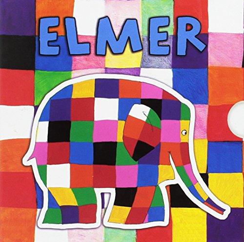 Estuche Elmer «Todo cartón»: (Los amigos de Elmer | Elmer y los colores | Un día con Elmer | Elmer y el tiempo)