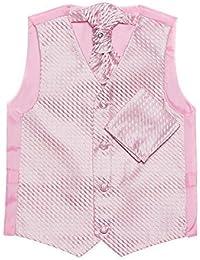 Paisley of London, Niño rosa chaleco, corbata & pañuelo set, Página chico chalecos, 3m - 14 años