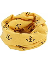 Butterme Invierno Bebé Niñas Niños Pañuelo de Algodón Cálido Lindo O Anillo Cuello Bufandas Chal Cuello Más Caliente(Amarillo#1)