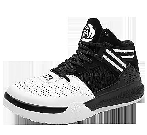 Hommes Chaussures de basket-ball 2017 Nouveaux sports à plein air Jeunes étudiants Tennis de plein air ( Color : Black , Size : 37 )