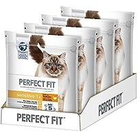 Perfect Fit Katzen-/Trockenfutter Adult 1+ für erwachsene Katzen Sensitive Reich an Truthahn, 4 Beutel (4 x 1,4 kg)