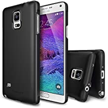 Galaxy Note 4 Funda - Ringke SLIM Funda [Protección Todo Alrededor][SF BLACK SF Negro] Funda Hard Top y Bottom Cobertura Completa Prima Dual Coated para Samsung Galaxy Note 4 - Eco Paquete
