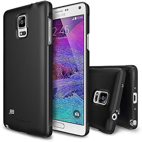 Galaxy Note 4 Funda - Ringke SLIM Funda [Protección Todo Alrededor][SF BLACK SF Negro] Funda Hard Top y Bottom Cobertura Completa Prima Dual Coated para Samsung Galaxy Note 4 - Eco
