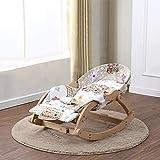 CWLLWC Baby-Schaukelstuhl, Koax solide Holz Chaiselongue Baby beruhigend Stühle Kinder Schaukel Schaukelstuhl Wiege Bett schlafen Puppe-Artefakt