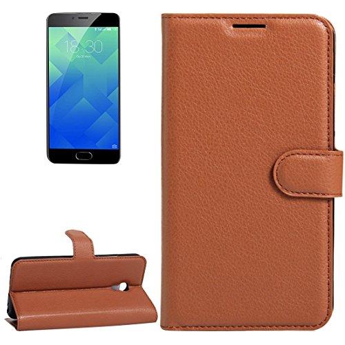 Meizu M5 / Meilan 5 Litchi Textur Horizontale Flip Leder Ständer Brieftasche Case mit Halter & Card Slots & Wallet by diebelleu ( Color : Green ) Brown