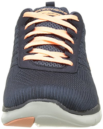 Skechers Flex Appeal 2.0 Break Free, Chaussures Multisport Outdoor Femme Gris (Char)