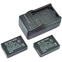 Mondpalast @ 2X Reemplazo Li-ion batería LP-E12 LPE12 LP E12 875mah 7.2V + cargador para Canon EOS 100D EOS M EOS-M