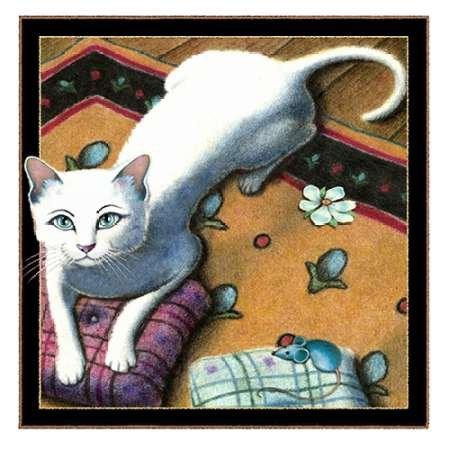 Kissen Talk (mit Maus) von Seeley, Laura–Fine Art Print erhältlich auf Leinwand und Papier, Papier, SMALL (11 x 11 Inches ) (Pillow Pet 11 Zoll)