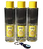 3 x 400ml EVIN Zitronen Duftwasser - Eau de Cologne - Limon Kolonya + Nazar Schlüsselanhänger