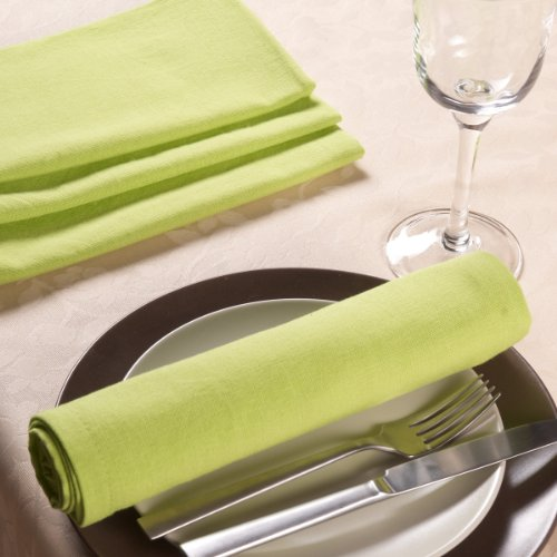 Sancarlos - Servilleta lisa verde claro - algodón 100% - 50x50 cm - v