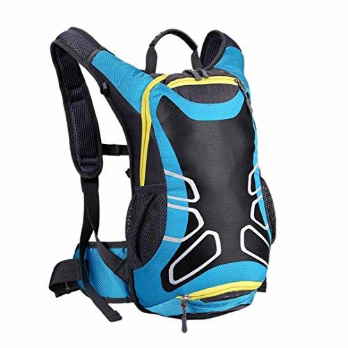 Bovake Radfahren Fahrrad Outdoor Sport Rucksack Reithelm Wasser Blase Tasche Blue