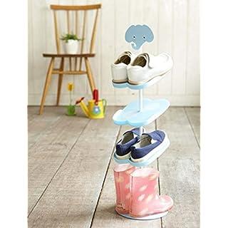 Addfun reg;Kids Schuhregal,Kreativ Bodenausführung rotierend Schuh Lagerung Gestell Dreidimensional Karikatur Kinder 's Mappe Schuhregal(Elefant)