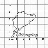 Adesivi 'Nürburgring', 8 cm