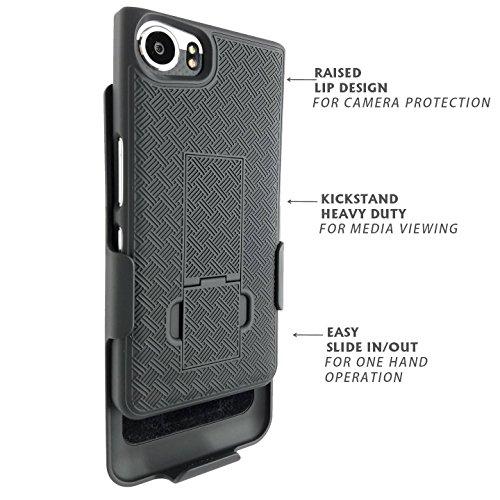 BlackBerry Keyone Fall Verizon Tmobile geeignet AT & T Att entsperrt Black Edition mit Gürtelclip Dual Layer Shell (Wolfram) Cdma Verizon-handy