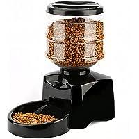 Alimentador De Mascotas Automático / 5.5L Alimentador De Mascotas Dispensador Con Grabadora De Voz Y Temporizador Programable / 3-4 Comidas Por Día Para Perros Y Gatos Dispensador De Agua, Panel LCD