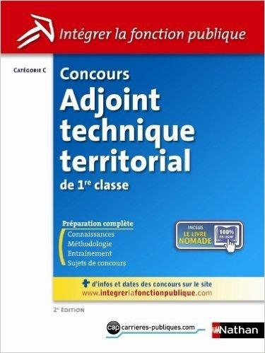 CONC ADJ TECH TERRIT 1RE CLASS de LAURENT FISCHER ,ELISABETH SIMONIN ( 22 novembre 2012 )