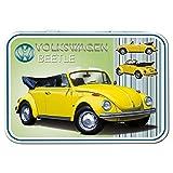 Red Hot Lemon Quot;VW Käfer Cabriolet Aufbewahrungsdose, 111x 80x 21mm, Gelb
